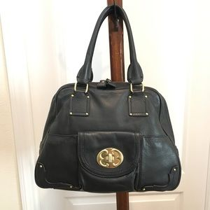 Emma Fox Black Dome Bowler Bag